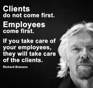 Image of Sir Richard Branson and inspirational quote to add yoga & pilates in the workplace