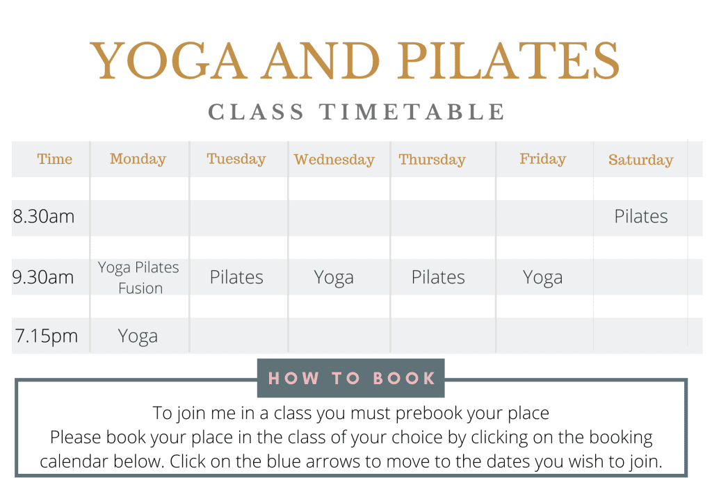 Tabitha Yoga Class Timetable
