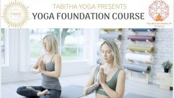 tabitha yoga foundation course two women sitting in namaste